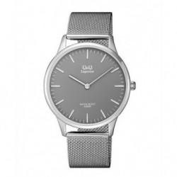 Relojes Q&Q de moda Acero Sumergible Hombre esfera gris S306J222Y