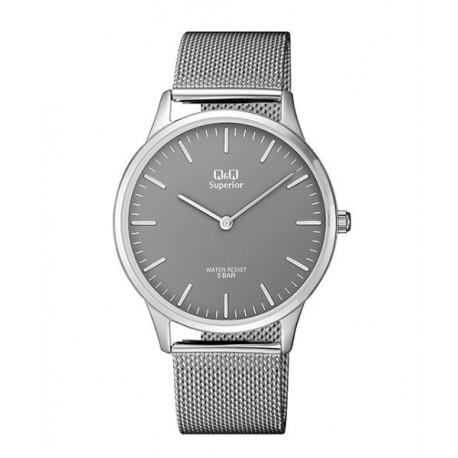 891848cd4083 Relojes Q Q de moda Acero Sumergible Hombre esfera gris S306J222Y