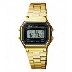 Vintage Reloj retro unisex dorado con cadena dorado de Q&Q fabricado por Citizen M173J003Y