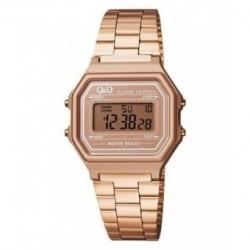 Vintage Reloj color oro rosa metalizado retro unisex de Q&Q fabricado por Citizen M173J006Y