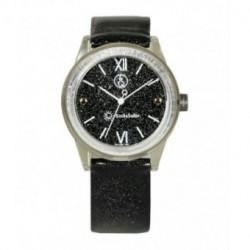 Correa original para el reloj Smile Solar Q&Q color negro brillo RP18J001Y