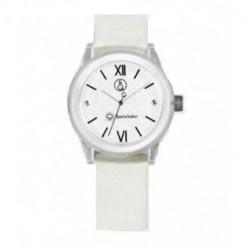 Correa original para el reloj Smile Solar Q&Q color blanco brillo RP18J002Y