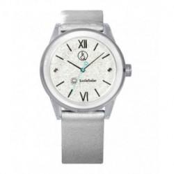 Correa original para el reloj Smile Solar Q&Q color plata brillo RP18J006Y