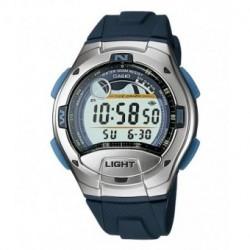 Casio correa original color azul oscuro para el reloj W-753-2A