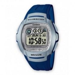 Casio correa original color azul para el reloj W-210-2A