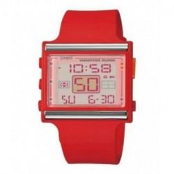 Casio correa original color rojo para el reloj LDF-10-4A