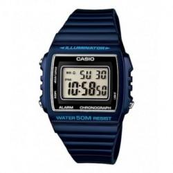 Casio correa original color azul oscuro brillo para el reloj W-215H-2A