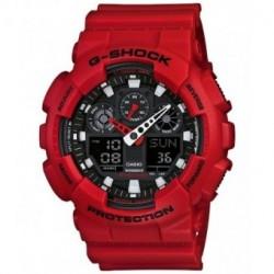 G-SHOCK Color rojo correa original para reloj Casio GA-100B-4A, GA-110FC-1A