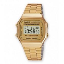 Brazalete reloj retro Casio dorado A-168WG-9W, A-168WG-9B, A-168WEG-3E, A-168WG-5E