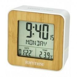 Despertador Digital RHYTHM con calendario en español LCT085NR03