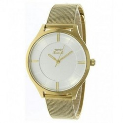 Reloj de moda con brazalete de malla color dorado para mujer Slazenger SL.09.6036.3.04