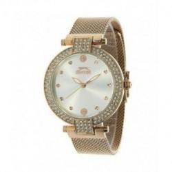 Slazenger reloj de moda color oro rosa y con incrustacion de cristales en la caja para señora SL.09.6089.3.02