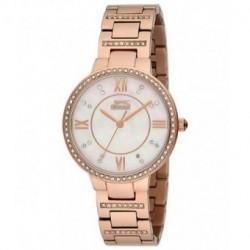 Reloj de moda color oro rosa y con incrustacion de cristales en la caja y correa para señora Slazenger SL.09.6087.3.02