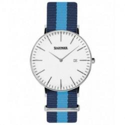 Reloj retro de moda para hombre y mujer unisex con correa de nylon Slazenger SL.09.1980.1.16