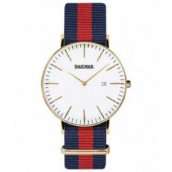 Reloj retro de moda para hombre y mujer unisex con correa de nylon Slazenger SL.09.1980.1.17