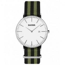 Reloj retro de moda para hombre y mujer unisex con correa de nylon Slazenger SL.09.1980.1.20