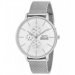 Reloj de vestir plateado elegante para hombre Slazenger multifuncion SL.09.6053.2.02