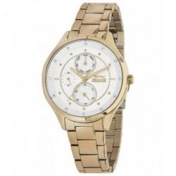 Reloj de moda con pulsera color oro rosado multifuncion para mujer Slazenger SL.09.6084.4.04