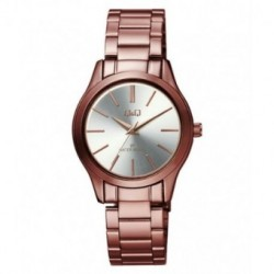 Reloj de moda color marron metalizado para mujer de Q&Q fabricado por Citizen QZ29J411Y