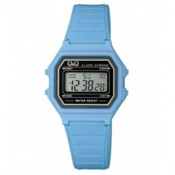 Vintage Reloj retro unisex color azul claro de Q&Q fabricado por Citizen M173J014Y