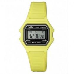 Vintage Reloj retro unisex color amarillo de Q&Q fabricado por Citizen M173J016Y
