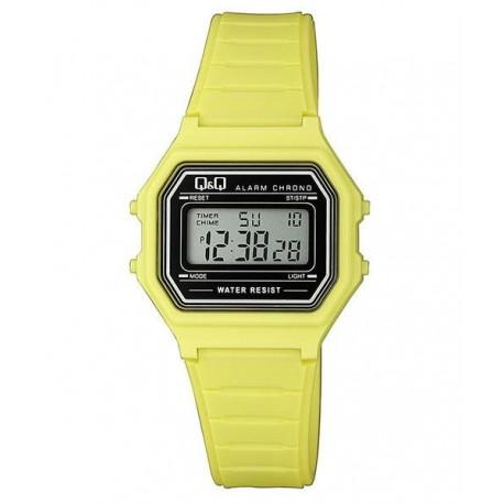 5a7037a45857 Relojes Retro Vintage Vintage Reloj retro unisex color amarillo de Q Q  fabricado por Citizen M173J016Y Q Q