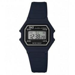Vintage Reloj retro unisex color azul marino de Q&Q fabricado por Citizen M173J019Y