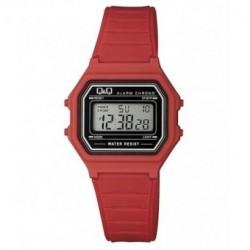 Vintage Reloj retro unisex color rojo de Q&Q fabricado por Citizen M173J021Y
