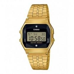 Reloj retro vintage con diamante para mujer dorado CASIO A-159WGED-1E