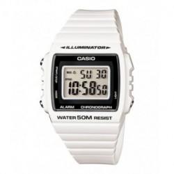 Correa original color blanco para el reloj Casio W-215H-7A