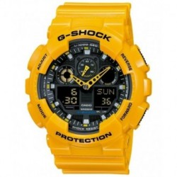 Correa original color amarillo para el reloj G-SHOCK Casio Casio GA-100A-9A