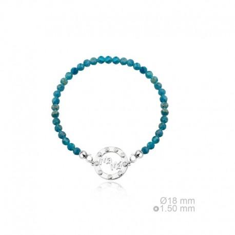 f65508c4169b Encuentra Pulsera Plata Elástica Piedras Azul MaMá