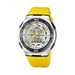 Correa original color amarillo para el reloj Casio AQ-164W-9A