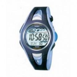 Correa original color negro y azul para reloj Casio STR-500-2V