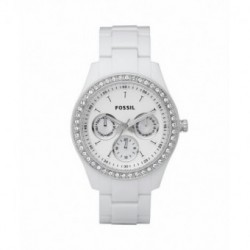 Reloj blanco multifuncion FOSSIL para mujer ES1967