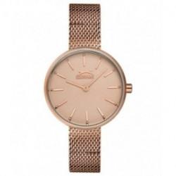 Reloj con cadena malla color oro rosa para mujer SLAZENGER SL.09.6168.3.07