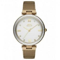Reloj dorado elegante para mujer SLAZENGER SL.09.6172.3.04