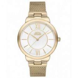 Reloj de moda color oro para mujer SLAZENGER SL.09.6171.3.04