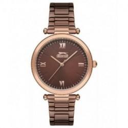 Reloj de vestir para mujer color chocolate SLAZENGER SL.09.6150.3.03