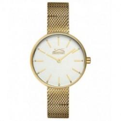 Reloj con cadena malla color dorado para mujer SLAZENGER SL.09.6168.3.01