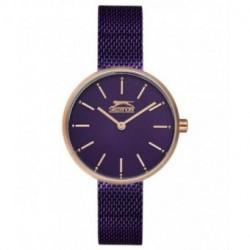Reloj con cadena malla color lila y oro rosa para mujer SLAZENGER SL.09.6168.3.06