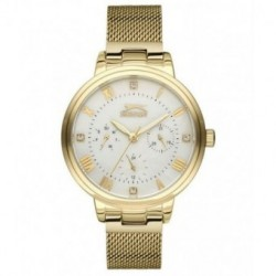 Reloj multifuncion dorado para mujer SLAZENGER SL.09.6185.4.05