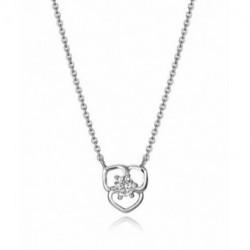 Collar Plata Flor Calada 10mm Circonita 40+3cm VICEROY