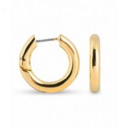 Aros Metal Dorado SINEM Lisos 17x3mm LUXENTER