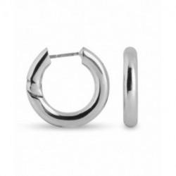 Aros Metal Plateado SINEM Lisos 17x3mm LUXENTER