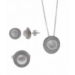 Conjunto Plata Perla Circonitas SALVATORE