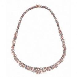Collar Plata Rosa Lágrimas Cristal Multicolor SALVATORE