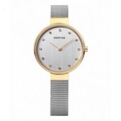 Reloj elegante para mujer dorado y plata Bering 12034-010