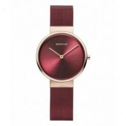 Bering reloj de mujer rojo 14531-363