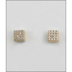 Pendientes plata cuadrados Larré